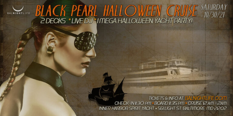 Baltimore Halloween Black Pearl Yacht Party