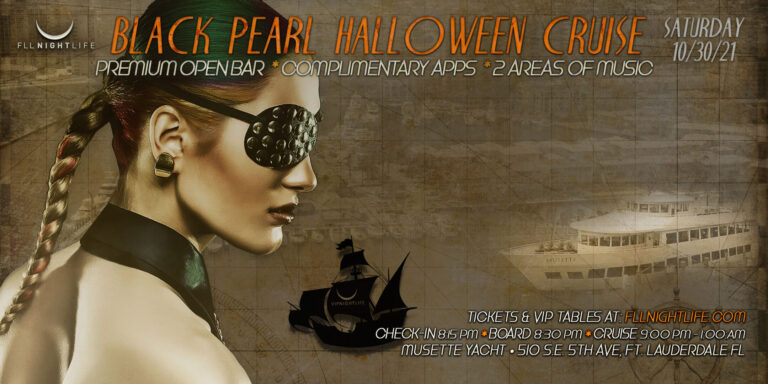 Black Pearl Fort Lauderdale Halloween Yacht Party 2021
