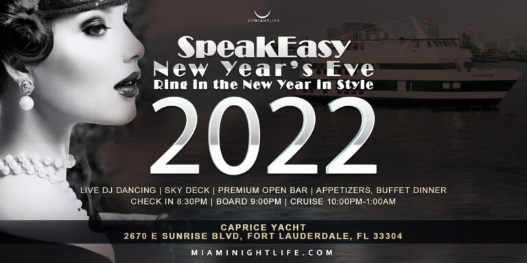 Speakeasy Fort Lauderdale Cruise NYE 2022
