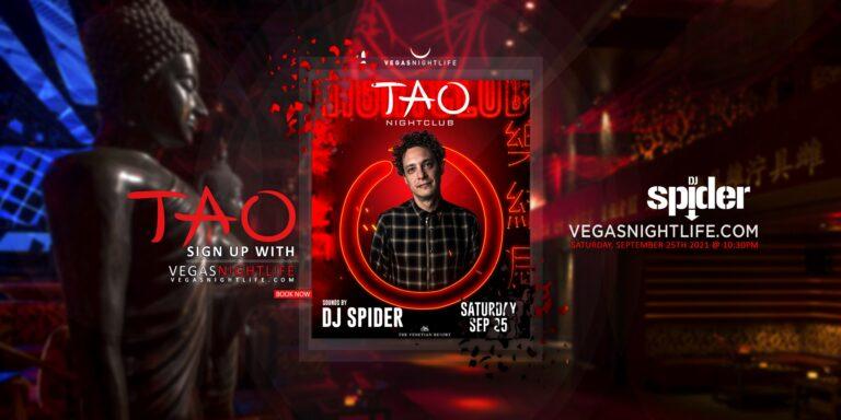 TAO Nightclub Saturday   DJ Spider